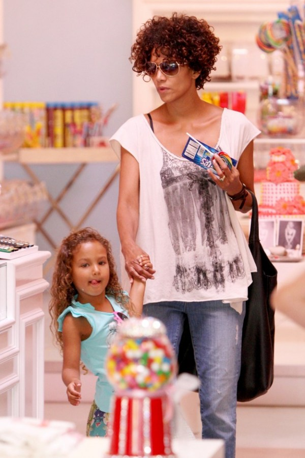 Nahla Aubrey & Mom Halle Berry have a girl's day out!