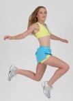 Ambitious active wear yellow sports top and skort