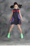 Sleeveless Color block dress with touches of fun and color