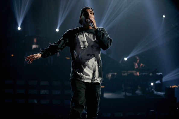 Drake rocks Jaden Smith shirt at the IHeart Radio Fest